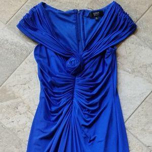 Tadashi size small royal blue long formal maxdress